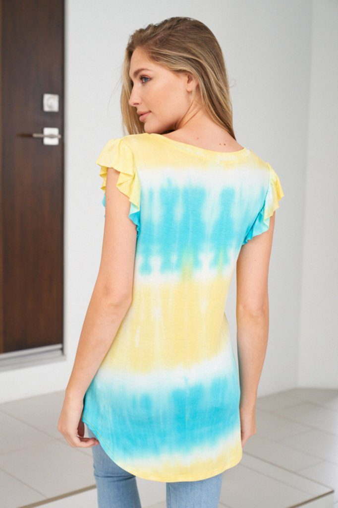 Sweeter By The Hour Bright Blue Tie Dye Top 2