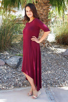 Swept Away Burgundy Red Hi-Low Maxi Dress 3