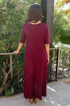 Swept Away Burgundy Red Hi-Low Maxi Dress 4