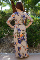 That's A Wrap Magnolia Blooms Cream Floral Print Maxi Dress 3