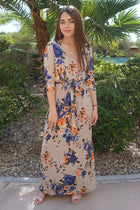 That's A Wrap Magnolia Blooms Cream Floral Print Maxi Dress 4