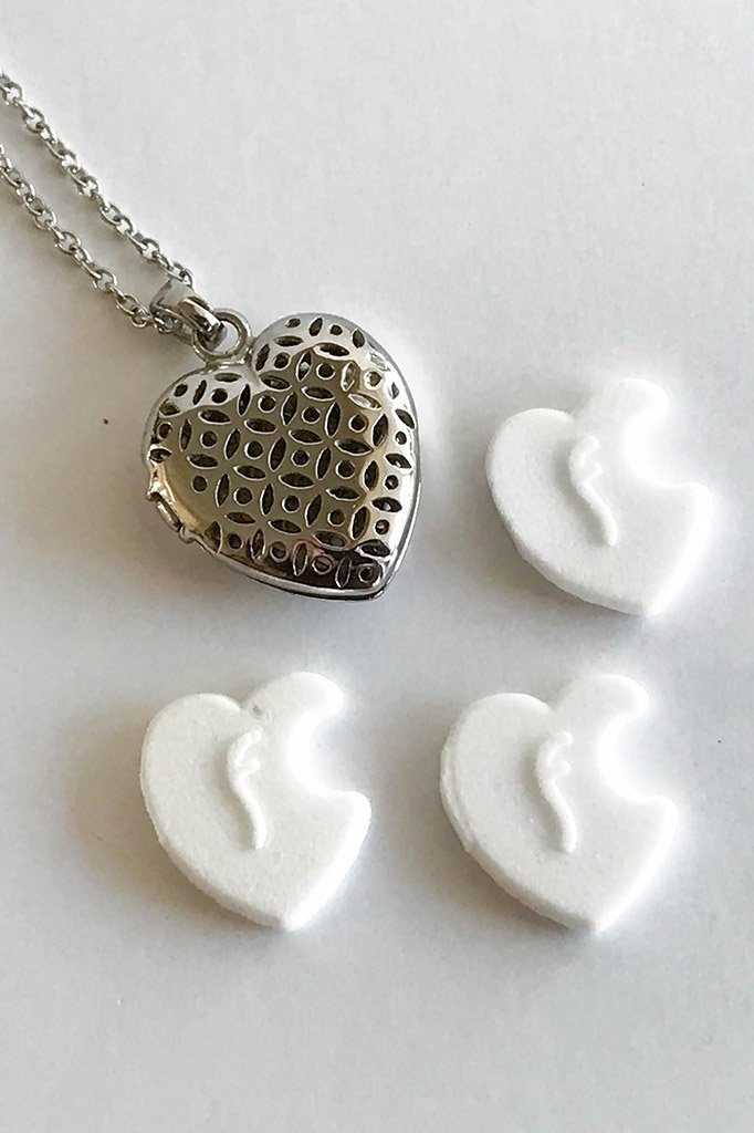 The Moment Of Love Silver Heart Perfume Necklace 3