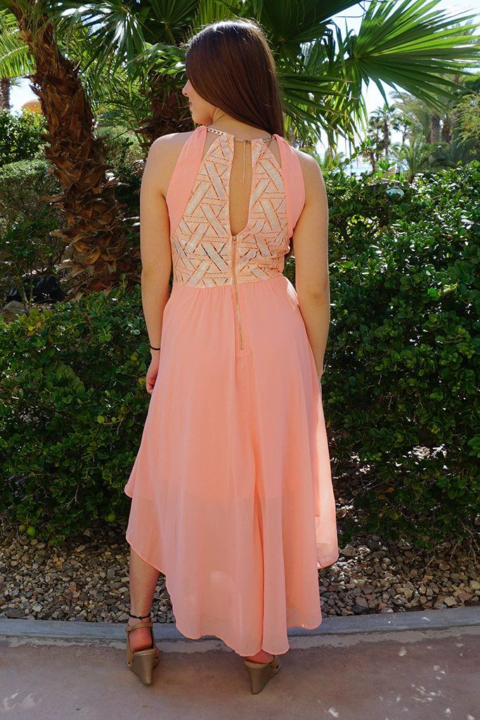 There She Goes Blush Pink Halter Maxi Dress 3