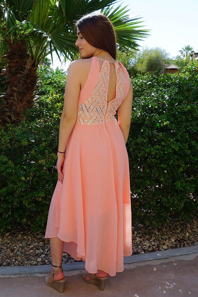 There She Goes Blush Pink Halter Maxi Dress 2
