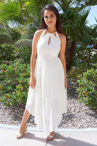There She Goes Ivory Halter Cut Out High Low Maxi Dress 1