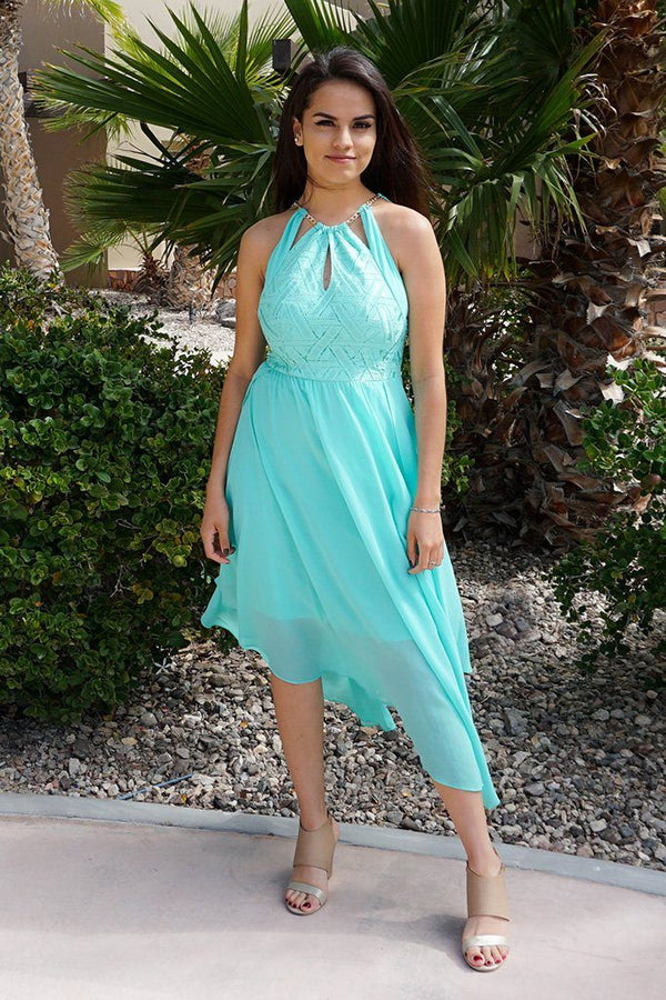 There She Goes Mint Green Halter Cut Out Maxi Dress 1
