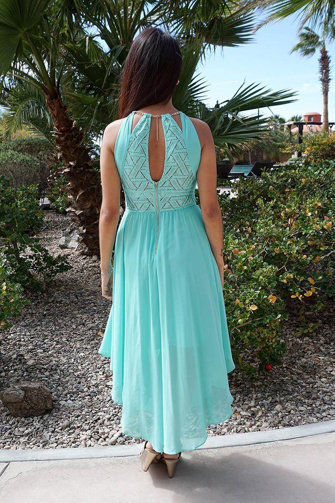 There She Goes Mint Green Halter Cut Out Maxi Dress 4