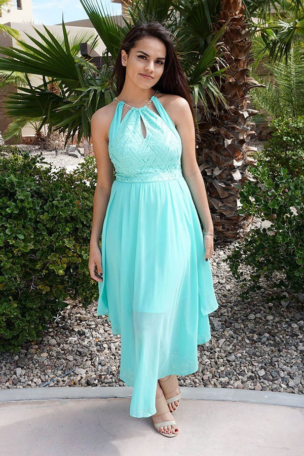 There She Goes Mint Green Halter Cut Out Maxi Dress 2