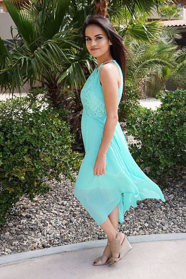 There She Goes Mint Green Halter Cut Out Maxi Dress 3