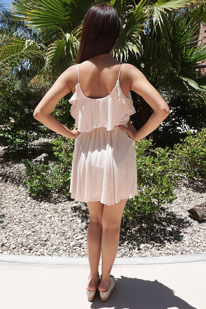 Tied Forever Together Blush Pink Lace-Up Dress 3