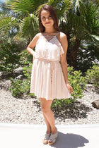 Tied Forever Together Blush Pink Lace-Up Dress 4
