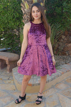 Time Of Love Wine Velvet Halter Skater Dress 4