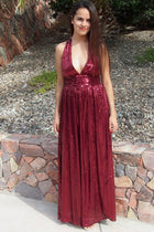 Timeless Story Burgundy Sequin Cutout Maxi Dress 1