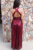 Timeless Story Burgundy Sequin Cutout Maxi Dress 2