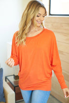 Totally Worth It Orange Long Sleeve Tunic Top 4