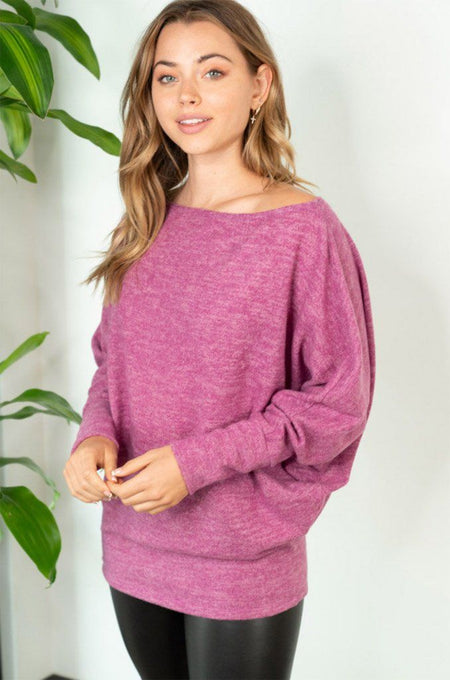 Tried And True Magenta Dolman Top 1