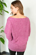 Tried And True Magenta Dolman Top 2