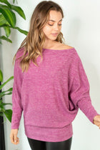 Tried And True Magenta Dolman Top 3
