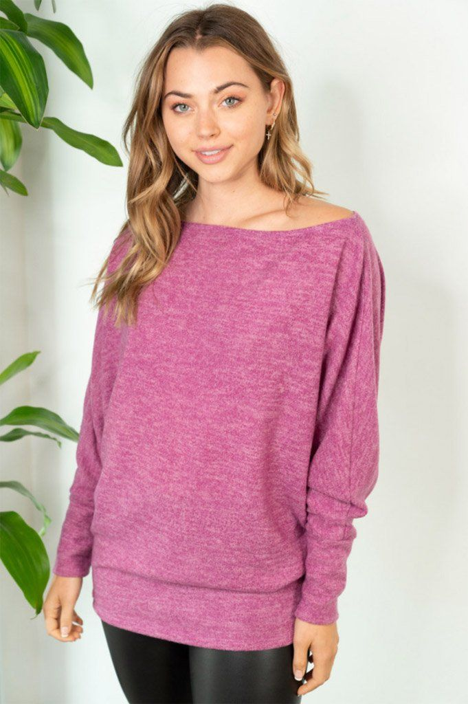 Tried And True Magenta Dolman Top 4