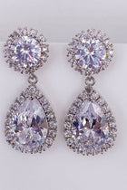 True Affection Silver Crystal CZ Mini Teardrop Drop Earrings 3