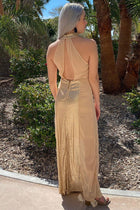 True Love Gold Sequin Halter Maxi Dress 2