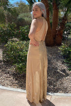True Love Gold Sequin Halter Maxi Dress 4