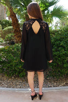 Unforgettable Evening Black Lace Silk Shift Dress 3