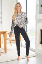 Untamed Wild Cream Cheetah Print Loungewear Set 4