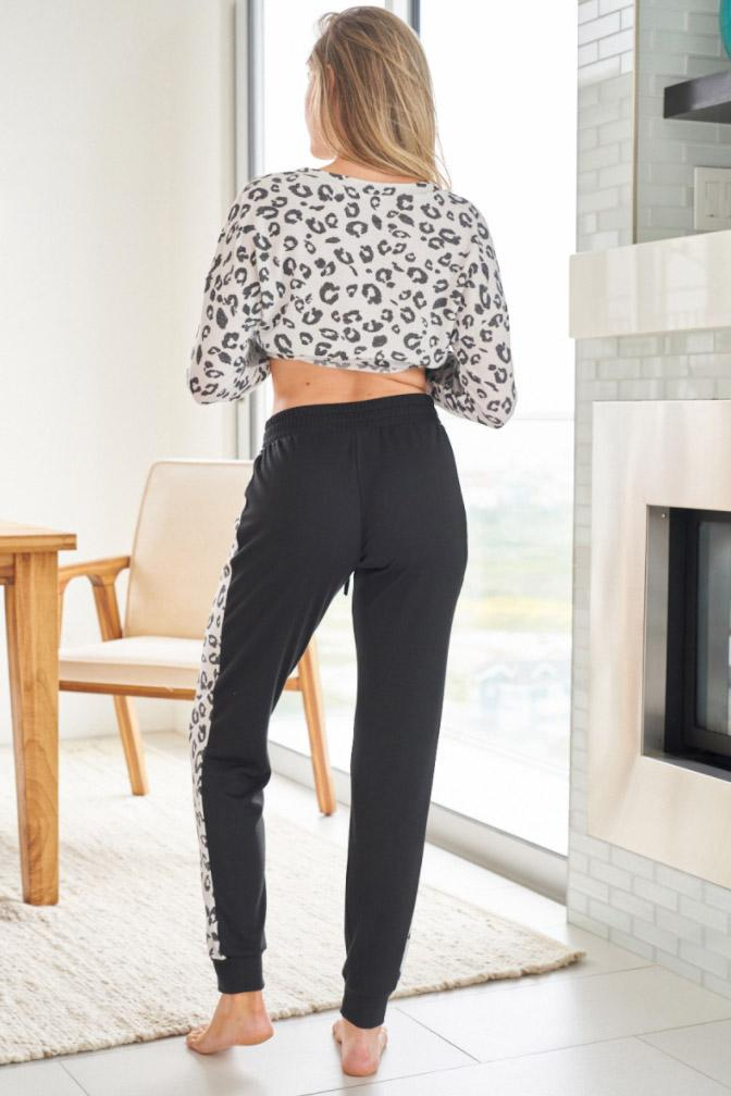 Untamed Wild Cream Cheetah Print Loungewear Set 2