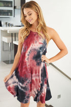 What You Wanted Burgundy Multi Tie Dye Dress 4