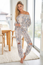 Wild Intentions Blue Snake Print Loungewear Set 3