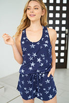 Wish Upon A Shooting Star Navy Blue Tank Top 4