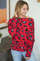Your Wild Side Red Leopard Print Off The Shoulder Top 4