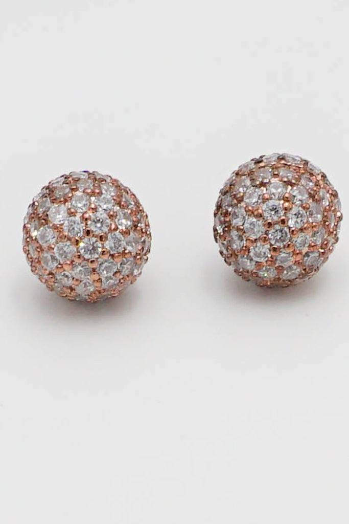 Realized Potential Rose Gold Rhinestone Earrings 4