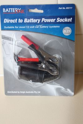 Direct to Battery Power Socket with Clamps