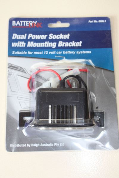 Dual Power Socket with Mounting Bracket