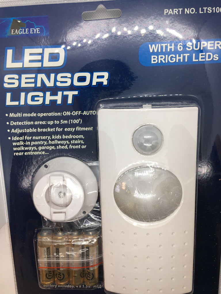 LED Sensor Light with 6 Super Bright LEDs