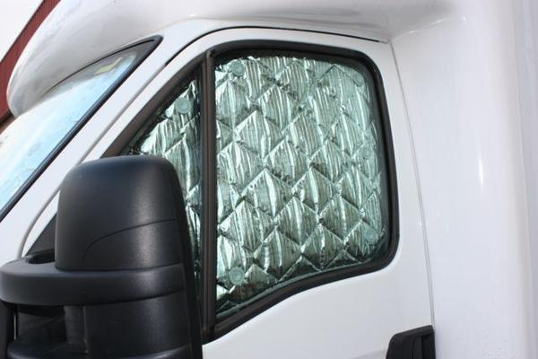 Solarscreen Toyota Coaster Window aft of passenger window but forward of door (93-2010)