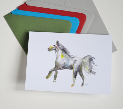 Watercolor Horse Cards No.2