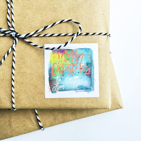 Gift Tags in Green