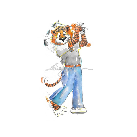 Patriotic Aubie Print & FREE Download!