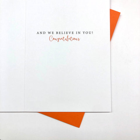 And We believe in YOU Card