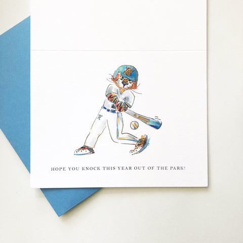 Baseball Aubie Birthday Card