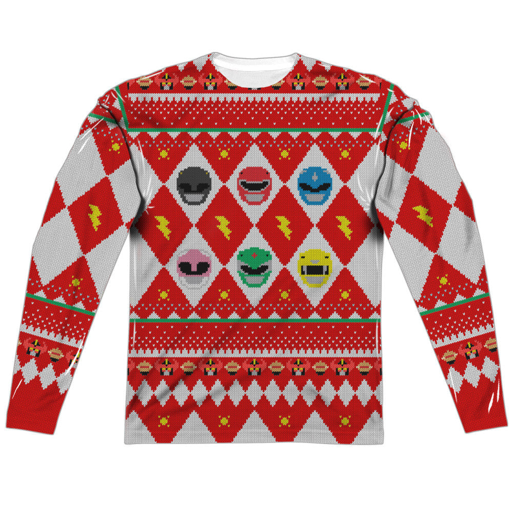 HO HO POWER RANGER  SWEATER (FRONT/BACK PRINT)  ADULT POLY CREW