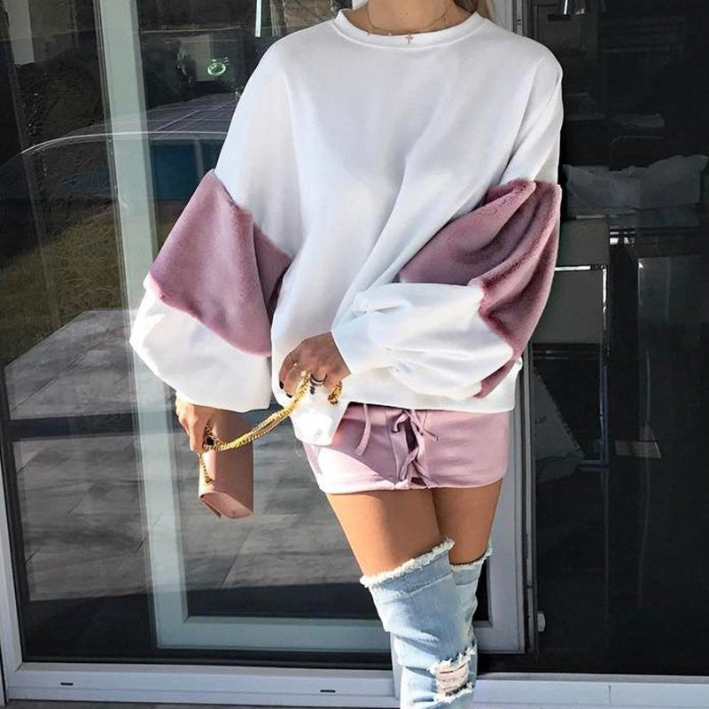 Casual Oversize White Sweatshirt