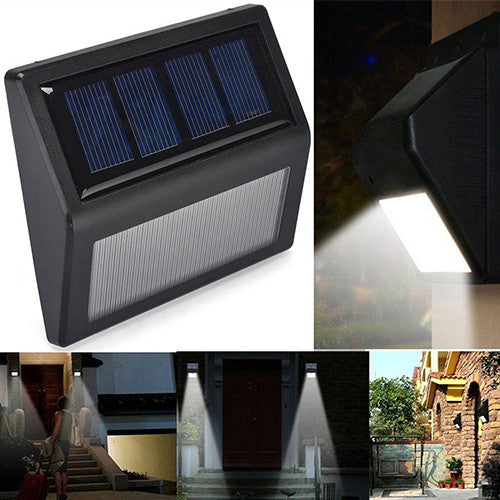 6LED Solar Power PIR Motion Sensor Waterproof Wall Light