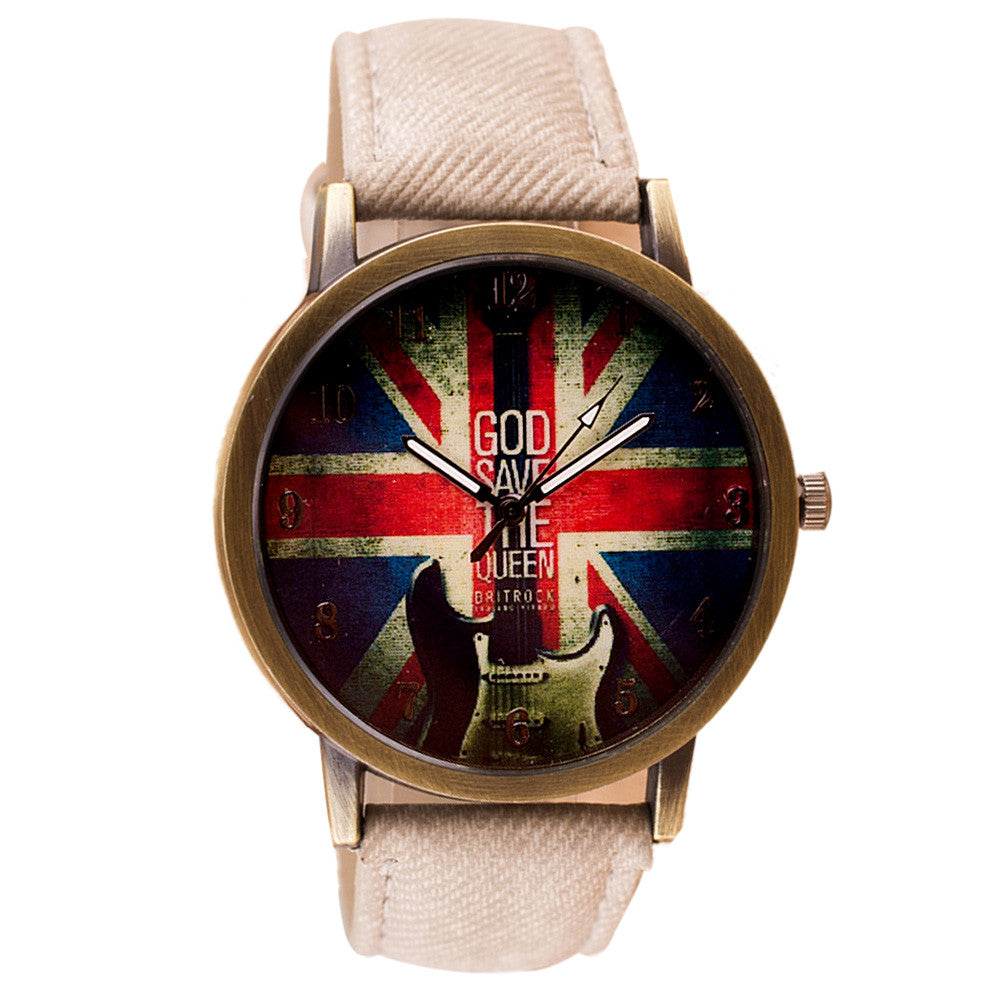 Retro UK Unisex Casual Watch