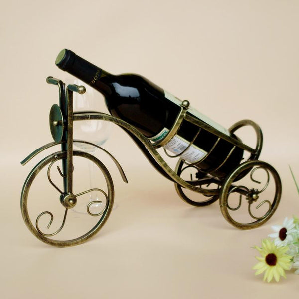 Iron Bicycle Design Wine Rack