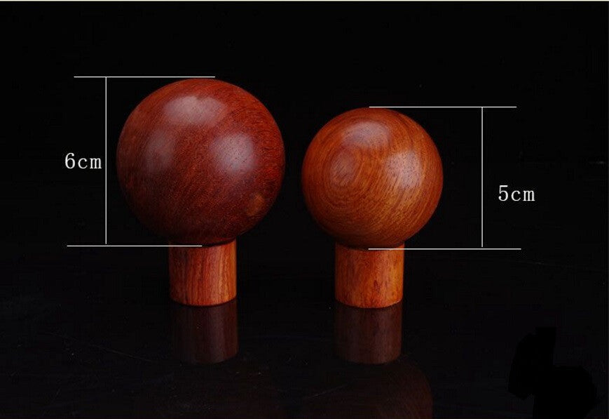 Pair of Vietnam Rosewood Antistress Hand Massage Ball
