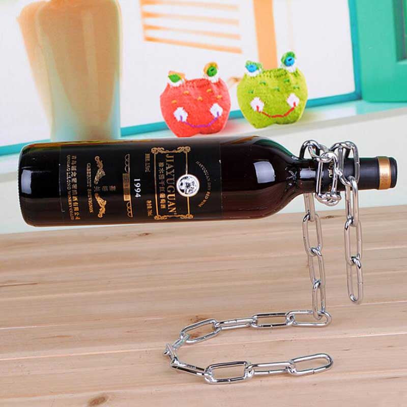 Rope Chain Rack Suspension Ribbon Wine Rack